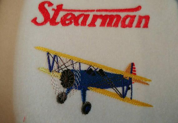 Hey, I found this really awesome Etsy listing at https://www.etsy.com/listing/515905434/stearman-plane-embroidered-polo-shirts
