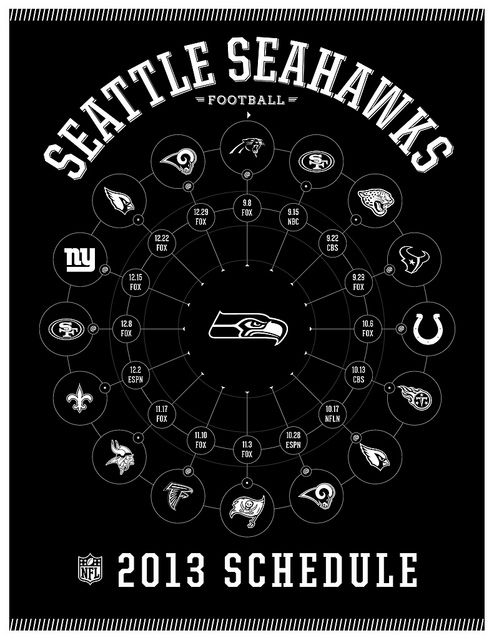Seattle Seahawks 2013 Schedule -football season is coming up!!!