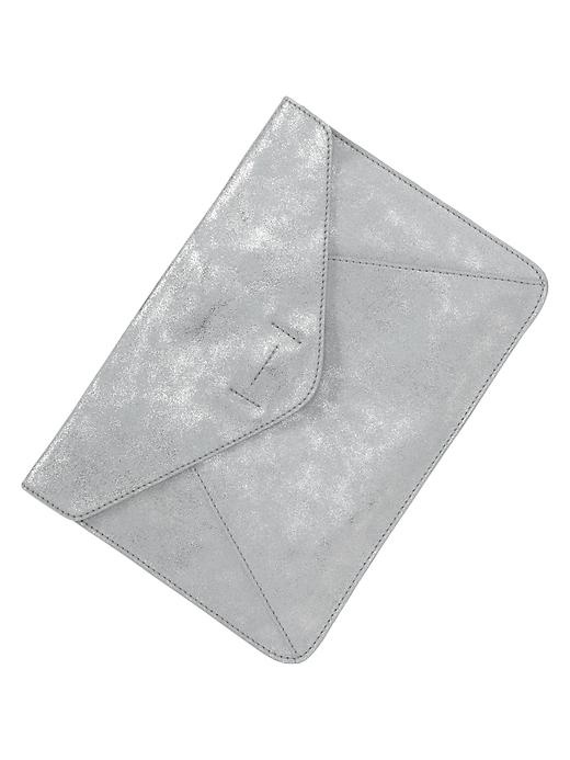 silver leather clutch / gap  I want to make something like this for an iPad