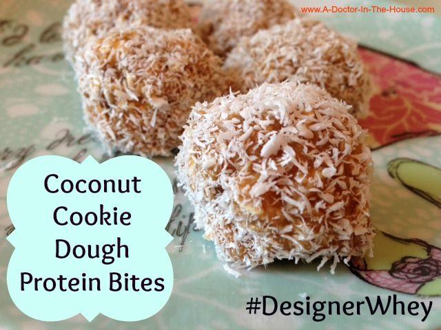 Coconut cookie dough protein bites