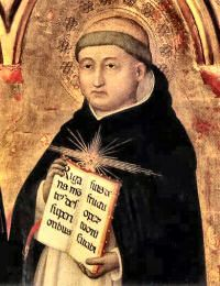 """St. Thomas Aquinas is the Dominican order's greatest glory. He taught philosophy and theology with such genius that he is considered one of the leading Christian thinkers. His innocence, on a par with his genius, earned for him the title of """"Angelic Doctor."""" #Catholic #Pray #DoctoroftheChurch"""