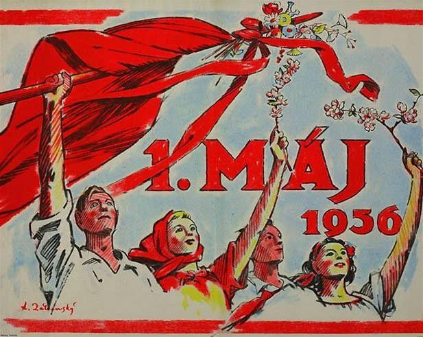 Plakát k oslavám 1. máje