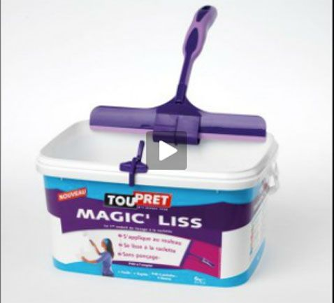 #renovation #enduit de lissage au rouleau Magic'Liss de Touprêt
