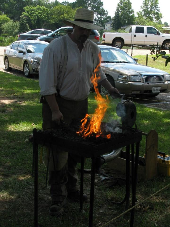 Red River Blacksmiths; 34th Annual Natchitoches-NSU Folk Festival; 2013; Natchitoches, Louisiana