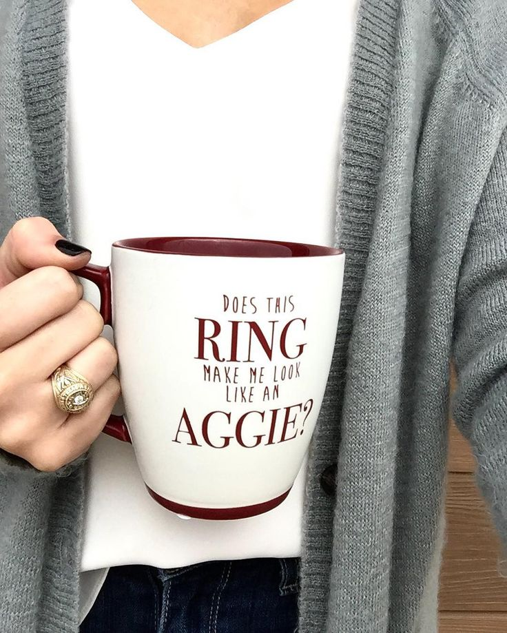 "Aggieland Outfitters on Instagram: ""Who's ready for ring day tomorrow?! Shop this mug in stores and online (search item number 121131)  #aggieringday #btho90hours #gigem…"""