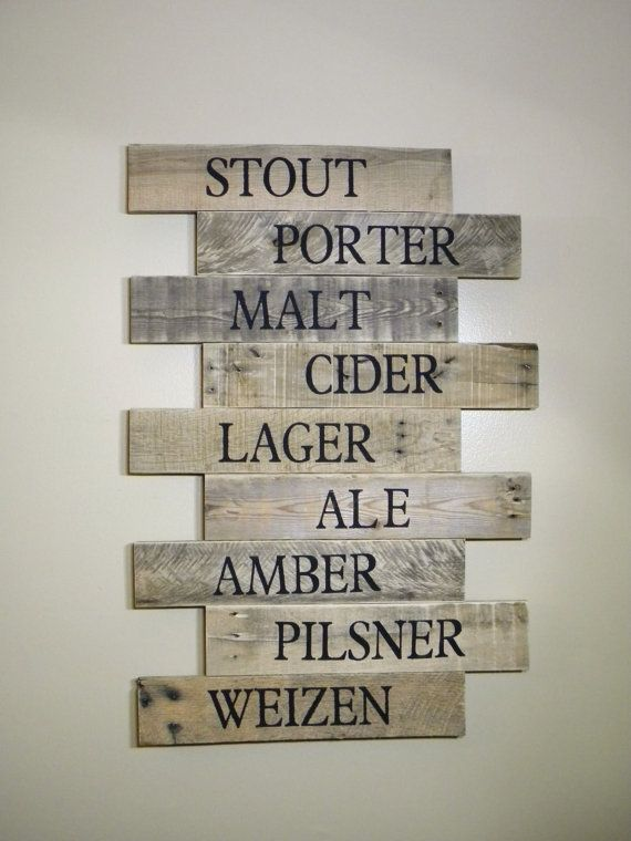 Pub Sign Brewery Art Craft Beer Bar Sign Wood by JNMRusticDesigns
