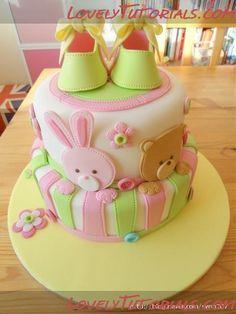 "МК Детский ""сшитый"" торт -Cake for kids step by step - Мастер-классы по украшению тортов Cake Decorating Tutorials (How To's) Tortas Paso a Paso"