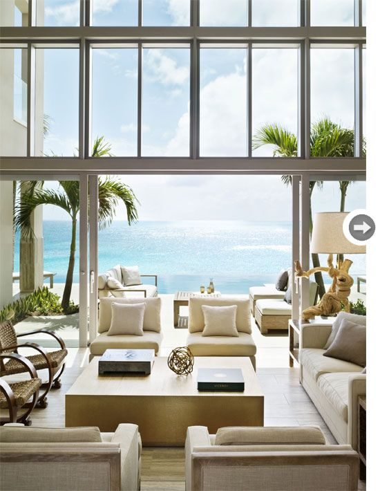 Next time I own a house on the beach, this will be my living room, haha