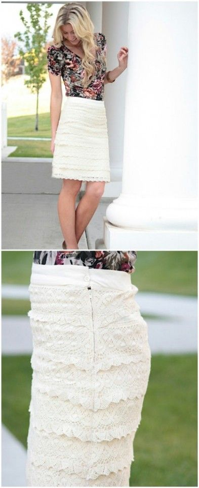 15 DIY Skirts Ideas For Crazy Summer, DIY Lace  Skirt
