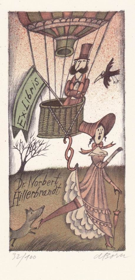 Bookplate by Adolf Born