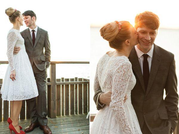 Vestido novia hipster corto: Lace Weddings, Wedding Dressses, Lace Wedding Dresses, Country Wedding, Dresses Ideas, Shorts Wedding Dresses, Shorts Dresses, Wedding Vintage Lace Dresses, Rustic Wedding