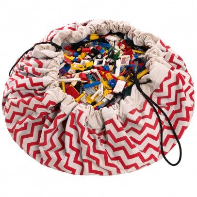 Sac/Tapis de jeux - Zig zag Rouge  Play and Go