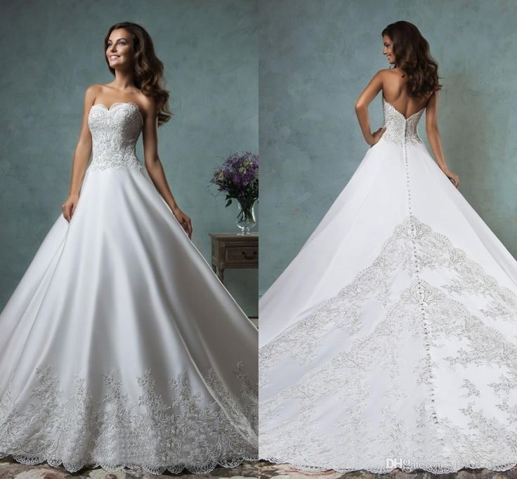 2016 Spring Amelia Sposa Wedding Dresses Canty Sweetheart With Appliques Buttons Chapel Train Vestido De Novia Fashion Bridal Gowns Mg08 Vintage Wedding Gowns Wedding Dress Designer From Victoriadress, $143.72  Dhgate.Com