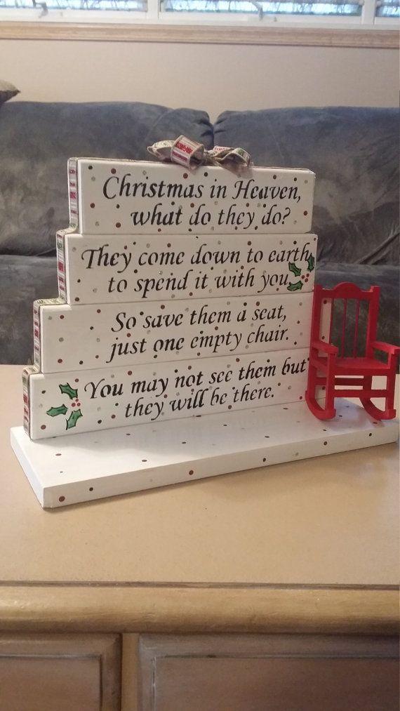 Christmas In Heaven poem table top display handmade by gr8byz