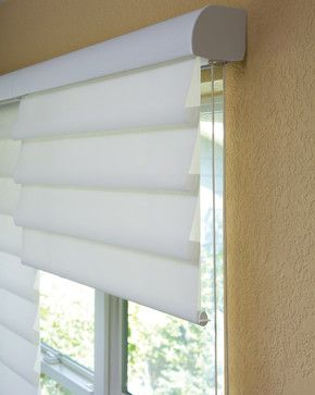 Hunter Douglas Vignette® Modern Roman Shades Halfway #Hunter_Douglas #Vignette_Shades #Window_Treatments