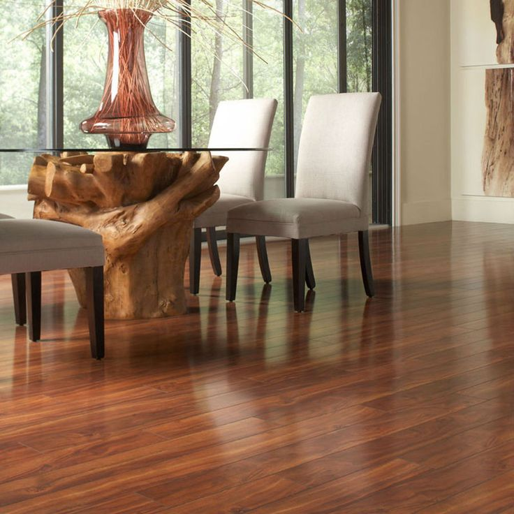 Style Selections 492 In W X 397 Ft L Jatoba High Gloss