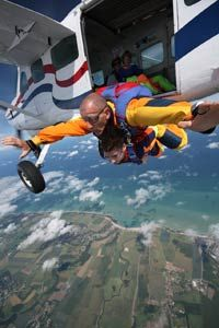 Votre saut en parachute proche de Caen