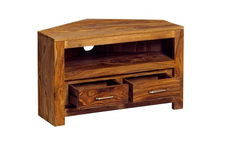 Sheesham Zen Natural Corner Tv Unit Solidwood