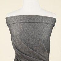 Zinc grey ponte roma jersey fabric