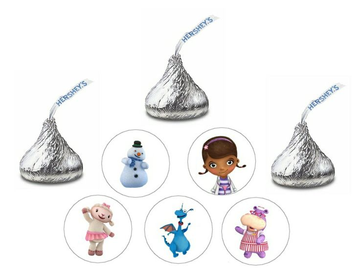 doctor mcstuffins | Doc McStuffins Hershey Kiss Stickers 80 by TootnBoo on Etsy