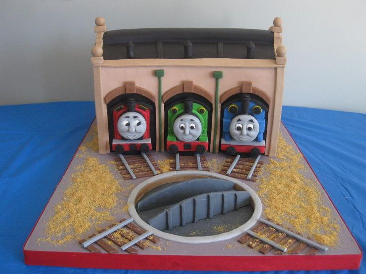 A Thomas the Tank Engine cake I made for my son's birthday.