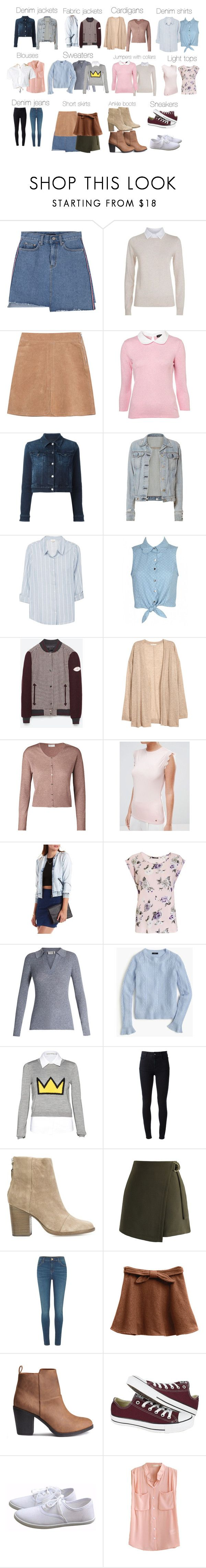 """Betty Cooper basics - Riverdale"" by shadyannon ❤ liked on Polyvore featuring See by Chloé, Dolce&Gabbana, rag & bone, Soft Joie, ESCADA, Ted Baker, Charlotte Russe, Frame, J.Crew and Alice + Olivia"