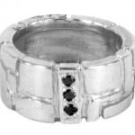 Black Diamonds ring by Tim Peel