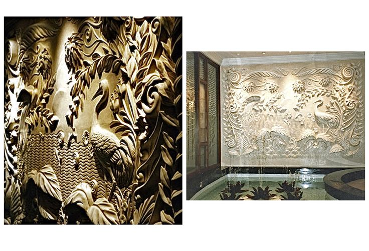 Bas relief art deco panel in fibrous plaster health club dorchester hotel - Deco relief catalogue ...