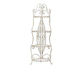 Etagere angolare in ferro a 4 ripiani Melodie - 62x164x44 cm