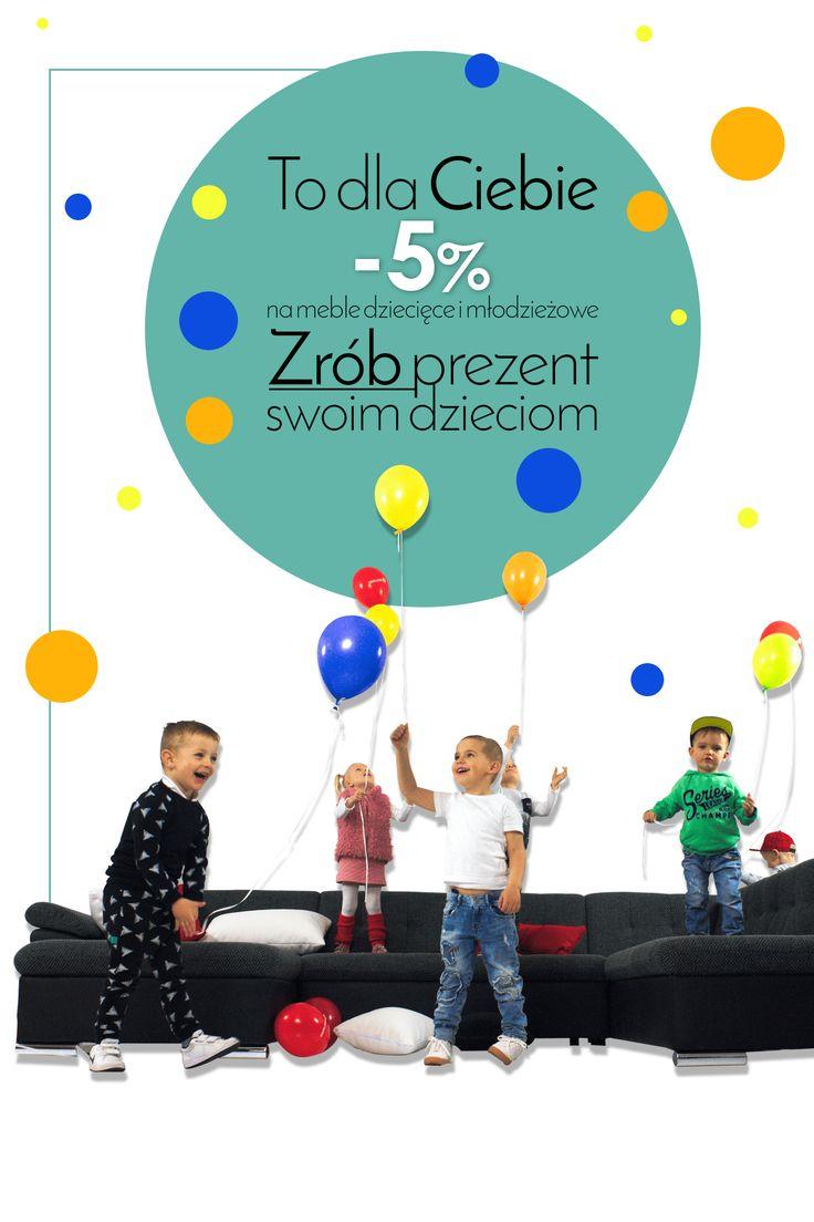 Świętuj razem z nami! Skorzystaj z rabatu już dziś!  Celebrate with us! Get a discount today!  #celebrations #kidsday #sale #promotions #gifts #dziendziecka #prezentdladziecka #prezent #mebledzieciece #dziecko #mojedziecko #mirjan24