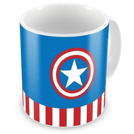 Caneca Personalizada Marvel Capitão América                                                                                                                                                                                 Mais