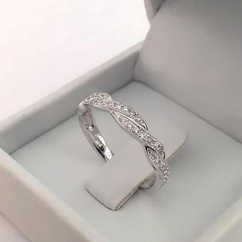 Natürlich Rund Diamant Hochzeitsring 14k Weißgold oder Gelbgold Art Deco Hochzeitsband Diamant Ring