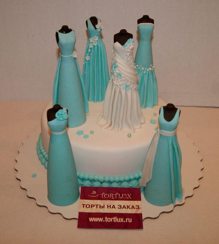 """Праздничный торт на девичник """"Невеста и подружки"""".Вес 4 кг."""