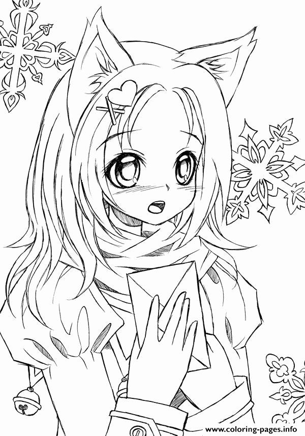 Printable Anime Coloring Pages Inspirational Cute Anime Catgirl Lineart By Liadebeaumont Colori Mermaid Coloring Pages Cartoon Coloring Pages Cat Coloring Page