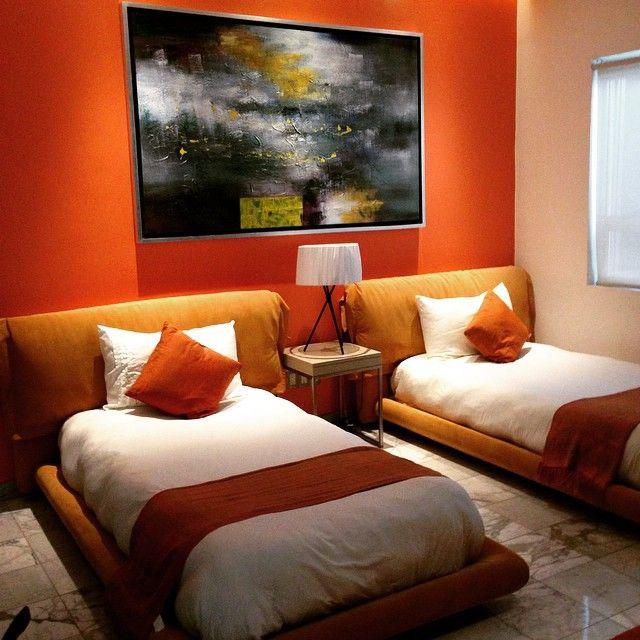 Cat  Kamar  Tren Orange Ide dekorasi rumah Kamar  tidur