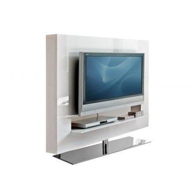 Cortes Schwenkbares TV Ständer Mit Paneel Aus Holz Mit Dicken Lateralen  Regalen Und Glasplatte. Verschiedene Ausführungen Erhältlich.