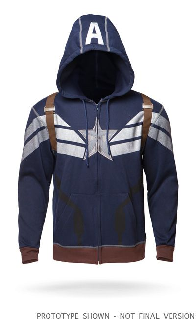 "This is so cool!!! :D ""Exclusive Premium Captain America Hoodie"""