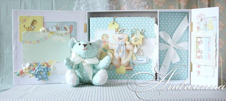 ANDREANNA: Набор аксессуаров на первый годик жизни маленького мишутки!