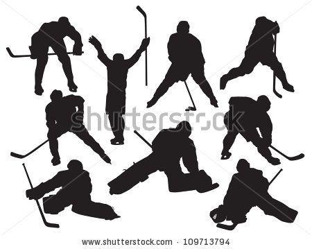 25 best Hockey images on Pinterest Hockey players, Silhouettes - hockey templates free