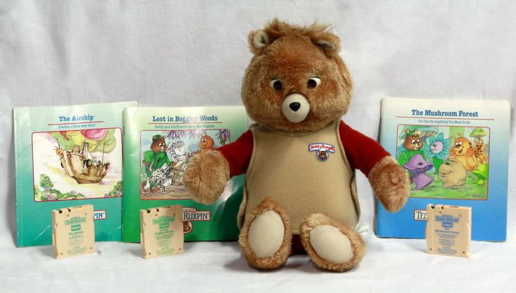 SOLD!! #1980s #Vintage 1985 #TeddyRuxpin #Talking #TeddyBear With 3 #Story #Books and 3 #Tapes #Ebay #Auction