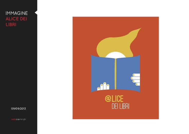 Illustrazione originale e logo design di @Al Do dei libri, servizio bibliotecario di lettura all'Ospedale dei Bambini di Parma_declinazione