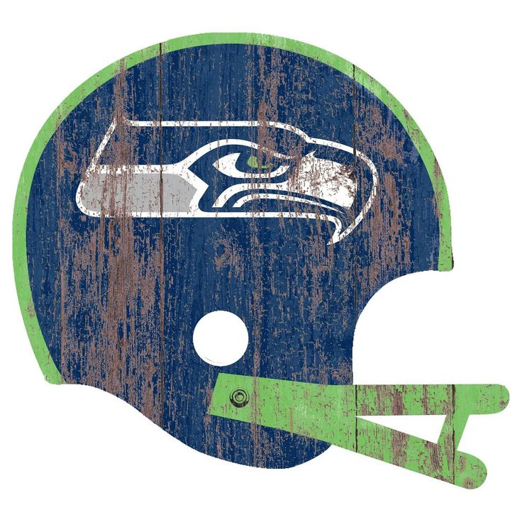 NFL Seattle Seahawks Distressed Helmet Cutout Sign