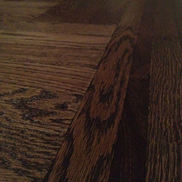 Jacobean stain on oak the hybrid pigments also brought for Hardwood floors jacobean