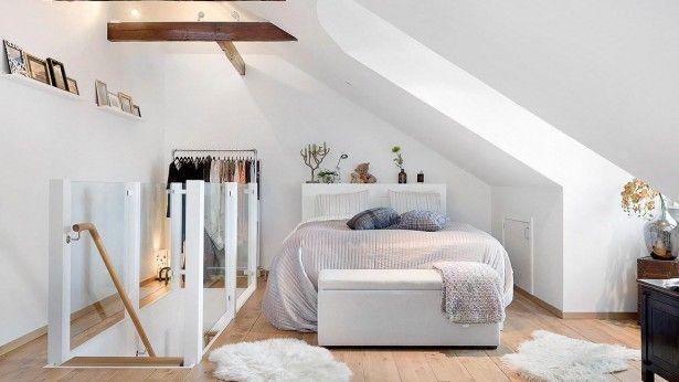 25 beste idee n over schuin plafond slaapkamer op pinterest aflopende wand slaapkamer - Inrichten van een kleine volwassene slaapkamer ...