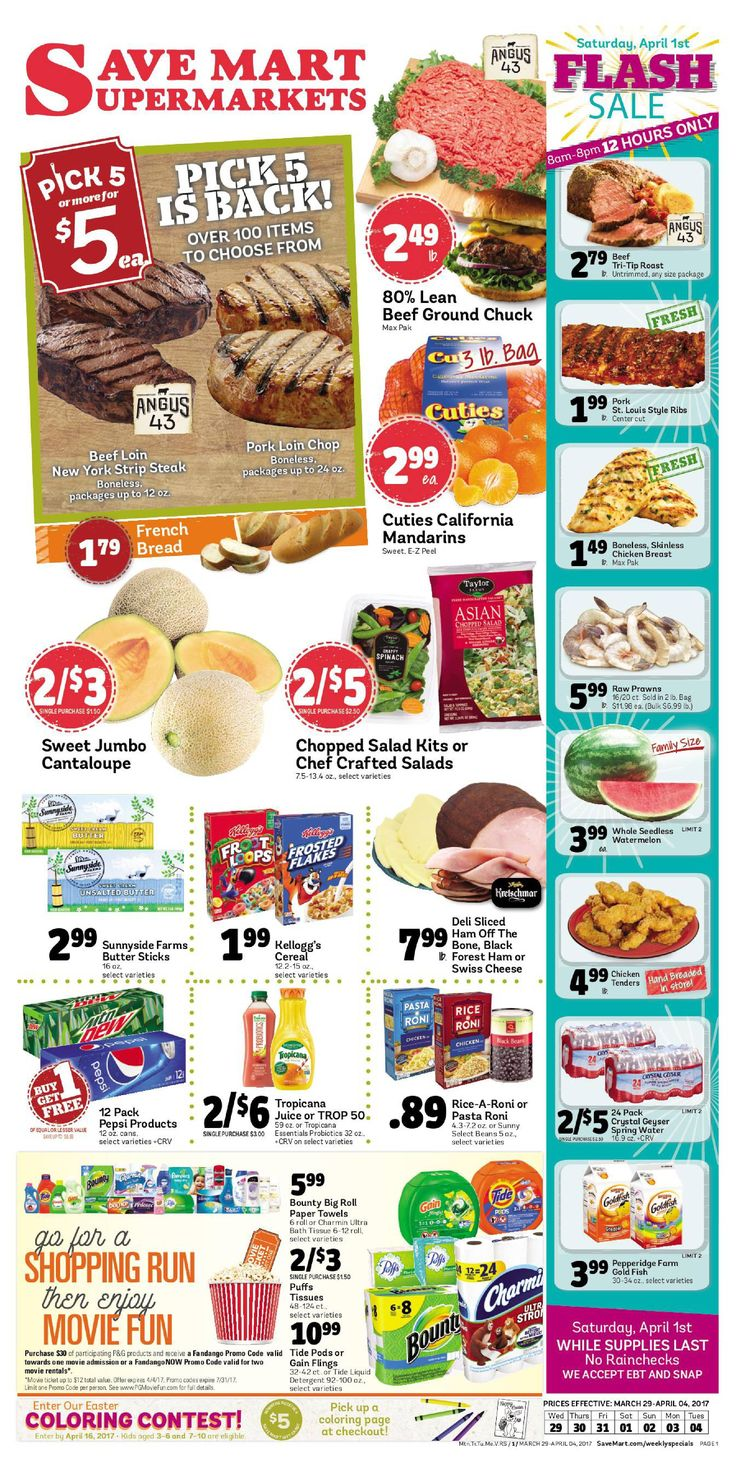 Save Mart Weekly ad March 29 - April 4, 2017 - http://www.olcatalog.com/save-mart/save-mart-weekly-ad.html