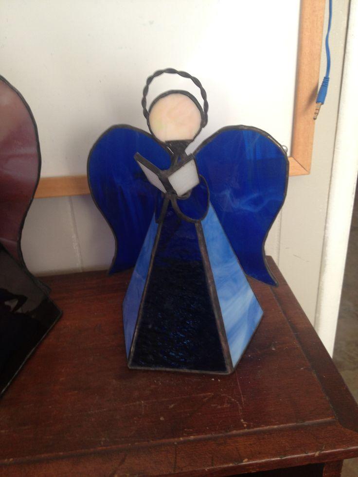 """7"""" blue guardian angel."""