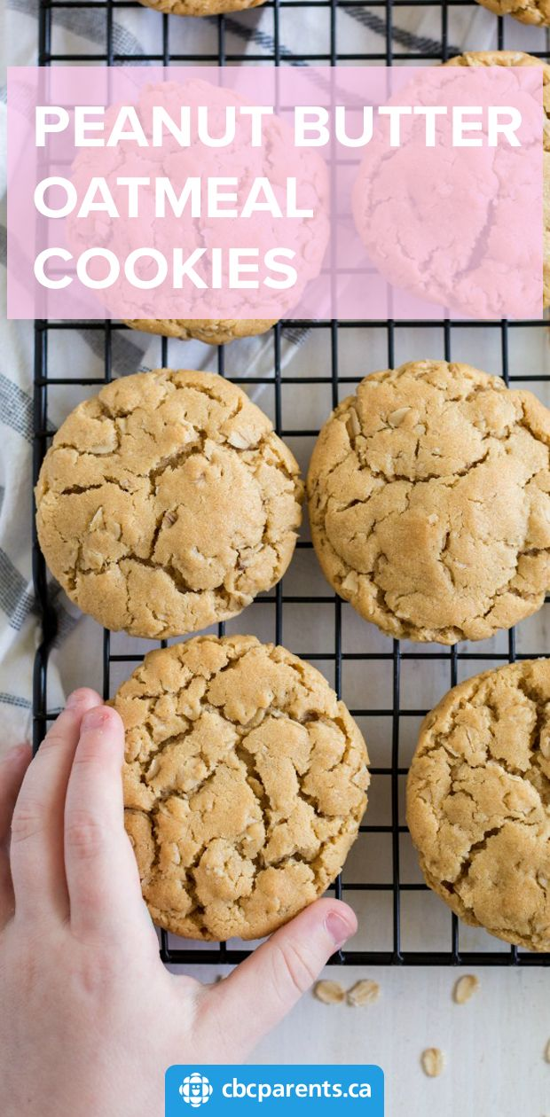 Classic Chewy Peanut Butter Oatmeal Cookies