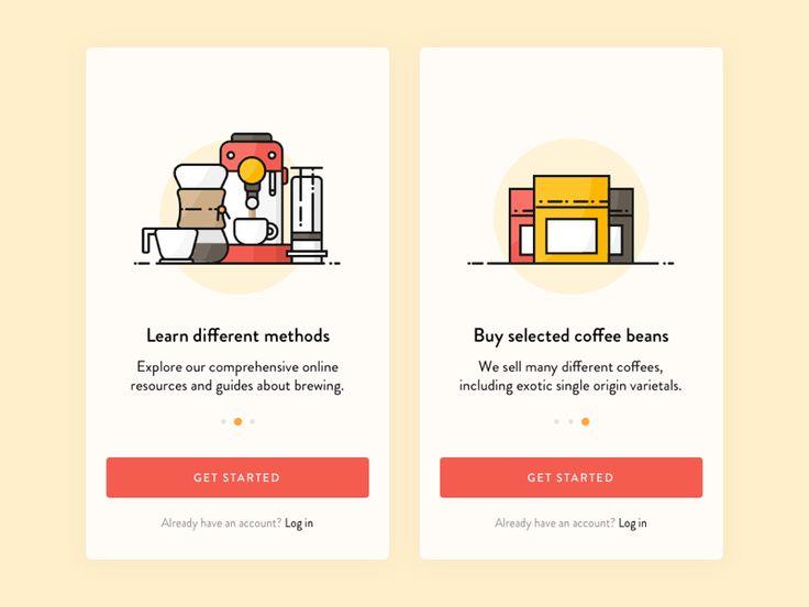 Coffee App Onboarding by Thomas Budiman #Design Popular #Dribbble #shots