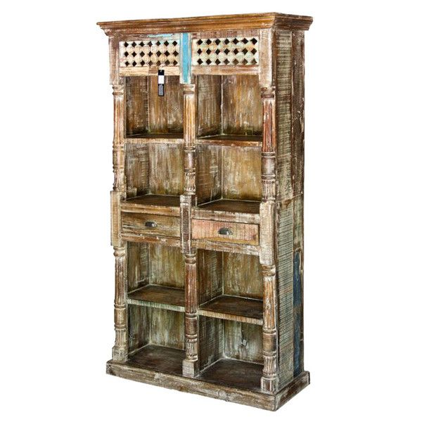 Antique Natural Lattice Bookcase  http://www.theimporter.co.nz/collections/new