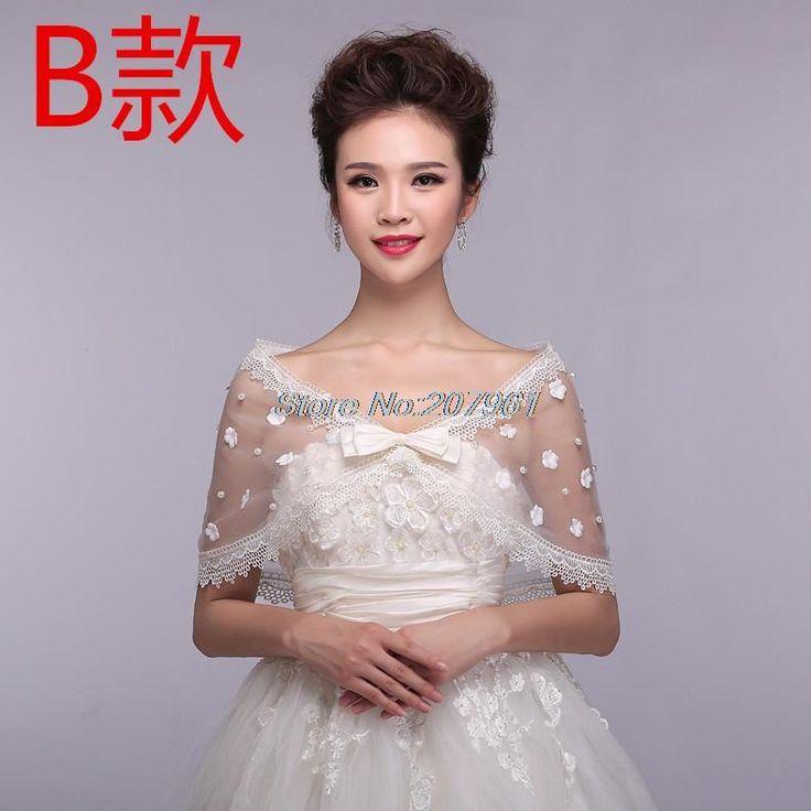 >> Click to Buy << Hot fashion style White& Ivory Tulle with lace bridal bridesmaid bolero Jacket/Wrap/Shawl Cape  JB-11 #Affiliate